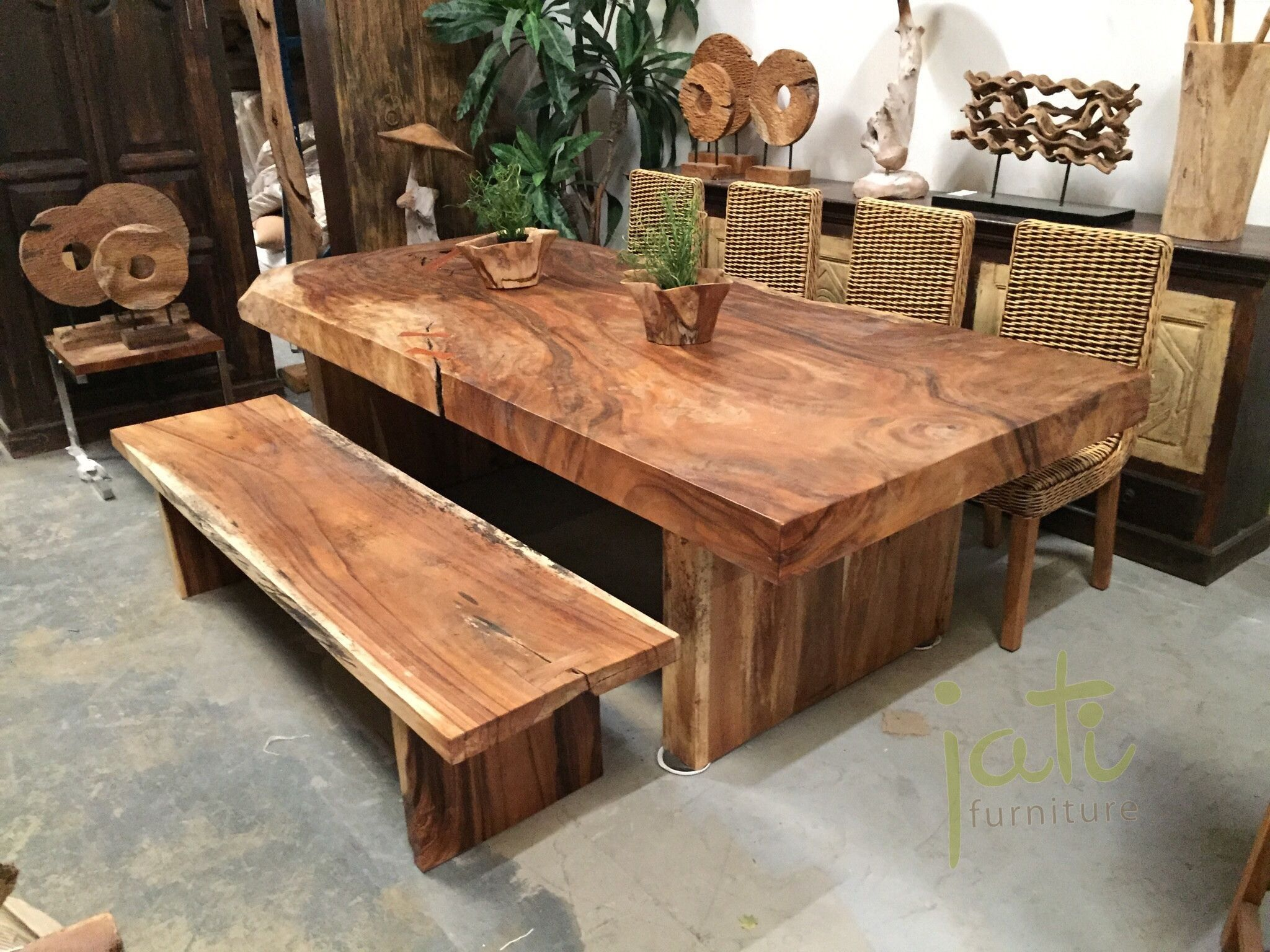 Get equipped with a reclaimed wood table and inspire your neighbors to go green